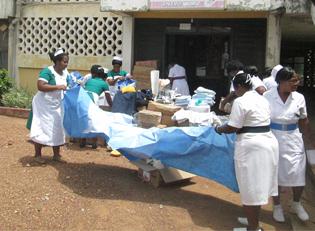 Hospital supplies for Liberia